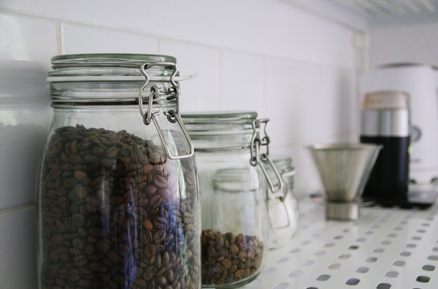 coffee bean glass storage container