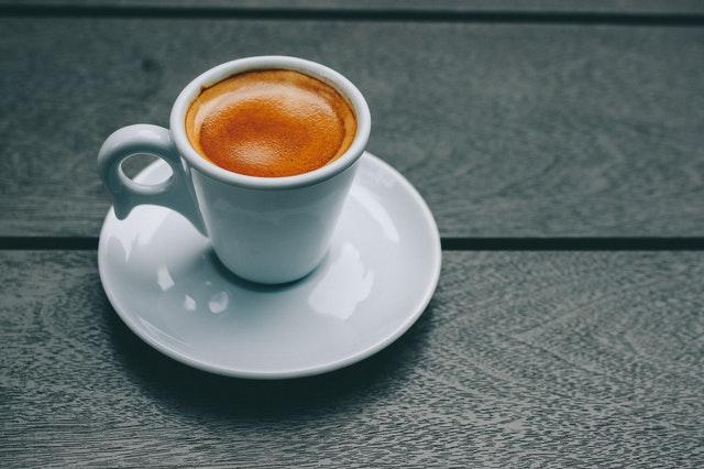 Espresso in a white ceramic cup